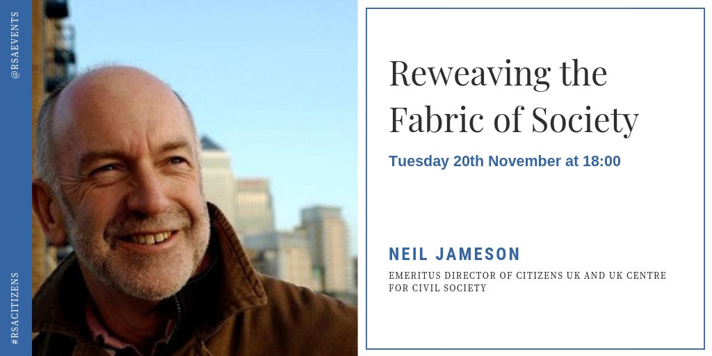 Community organising pioneer and #LivingWage legend @njamesoncuk is being awarded the RSA Albert Medal. Join us on 20 Nov to celebrate his trailblazing work & dedication to social justice & the common good #RSAcitizens @CitizensUK @LivingWageUK
