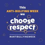 Image for the Tweet beginning: As part of the #antibullyingweek2018,