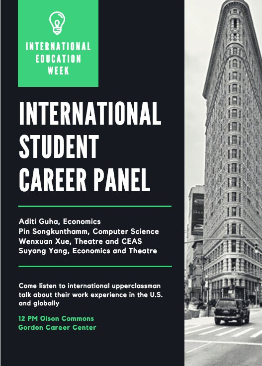 test Twitter Media - International students: worried about finding a job in a new country? You're not alone! 💼 Tomorrow @ 12pm, hear from upperclassman from different countries and different majors about their work experiences: https://t.co/rE9meyik5U #IEW @WesCareerCenter https://t.co/wvxpUARRgt