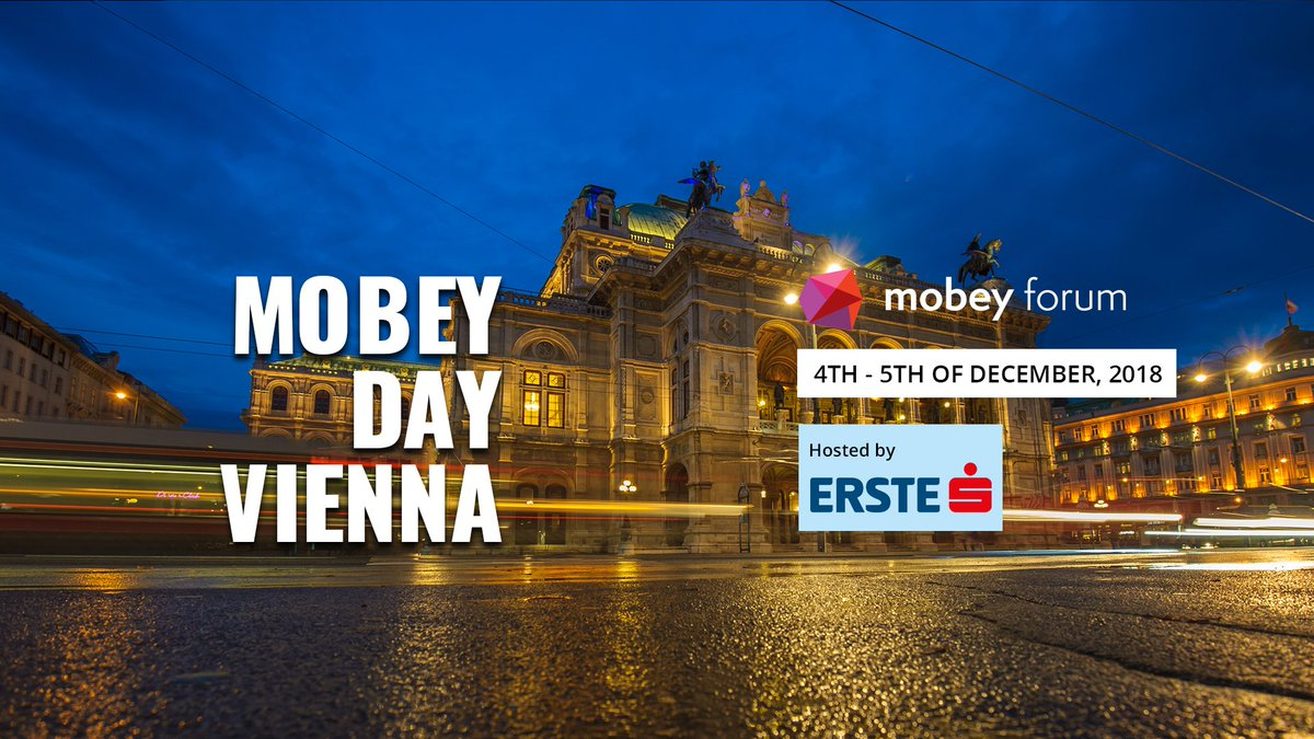 Join us in #MobeyDay #Vienna to explore the art of engaging customers with @Alipay @ErsteGroup @KBCBankIreland  @caixabank @rabofoundation @Ceskasporitelna and many more #banks #fintechs   #CustomerEngagement Save 35% with the code MOBEYVIE35 https://t.co/Ujhffy0w7o