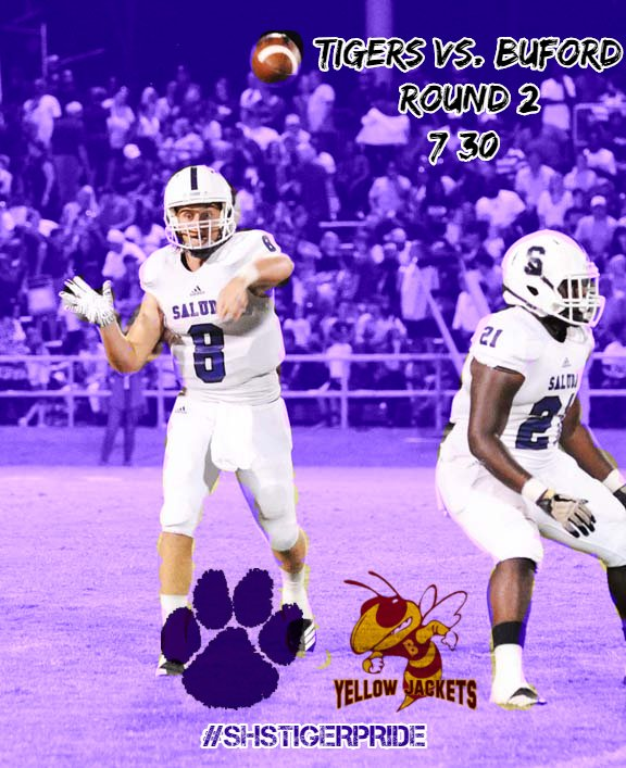Round 2 of the Playoffs kickoff Friday Night at Buford.   Be there. Be loud.   #RoadTrip  #SHSTigerPride<br>http://pic.twitter.com/totG8h7Rj2