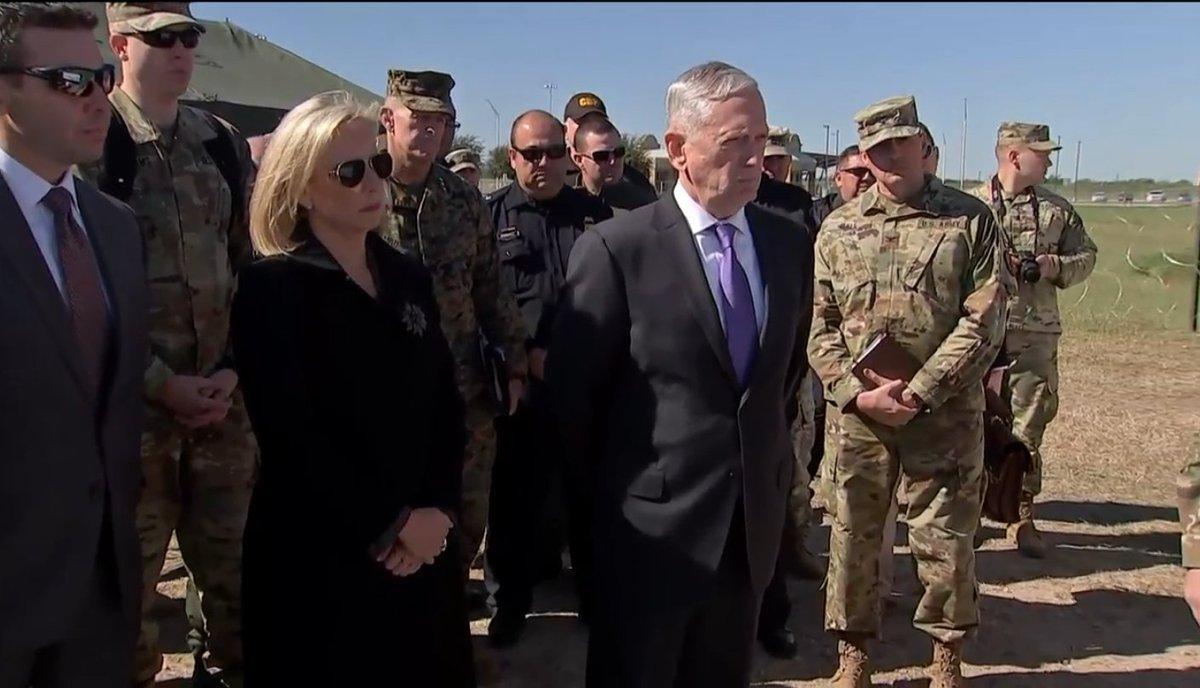 Watch Mattis visit troops on the U.S.-Mexico border  https://t.co/9Hn5X8qfhh