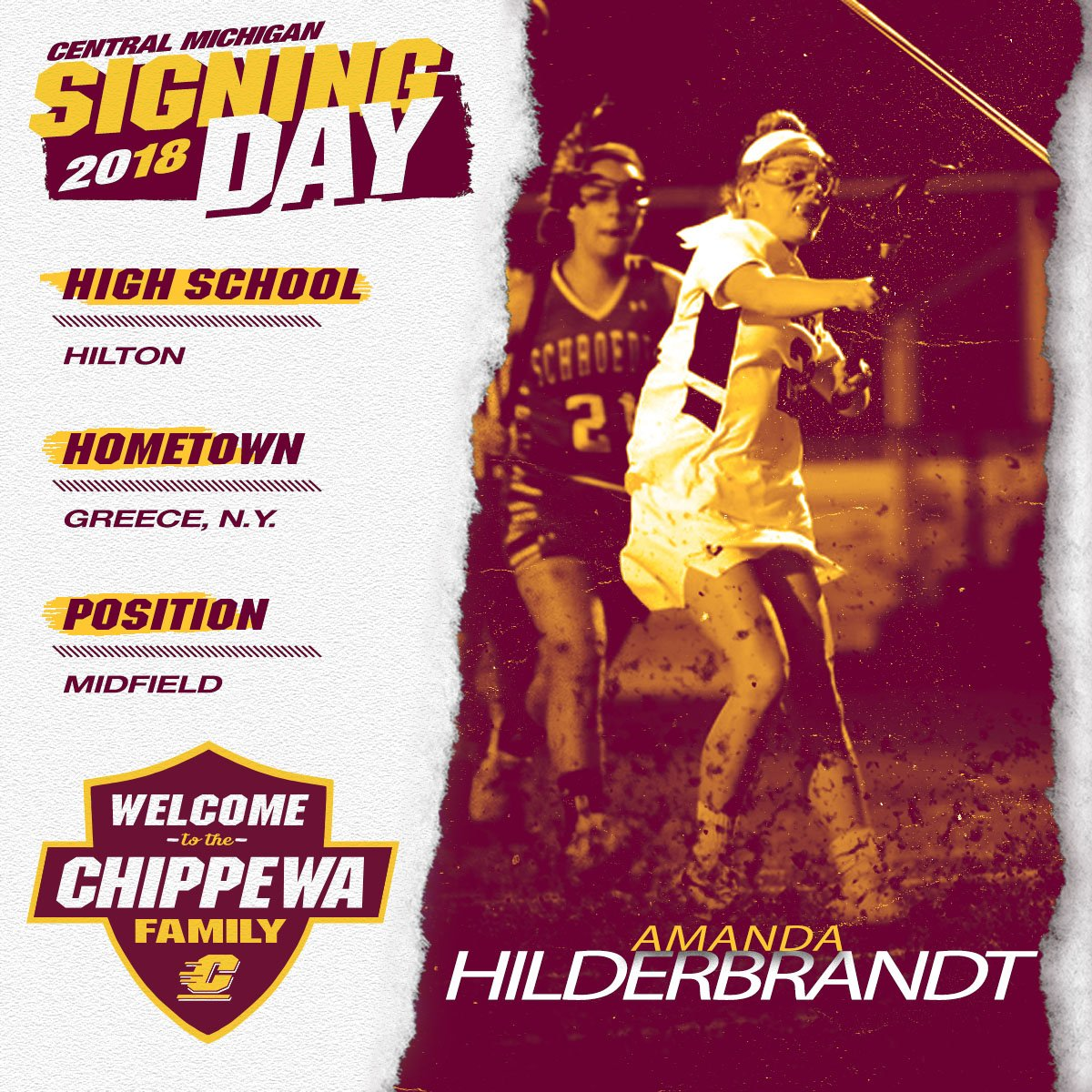 Welcome to the Chippewa family, Amanda Hilderbrandt! #FireUpChips 🔥⬆️🥍
