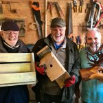 Image for the Tweet beginning: Marvellous Men in Sheds creations!