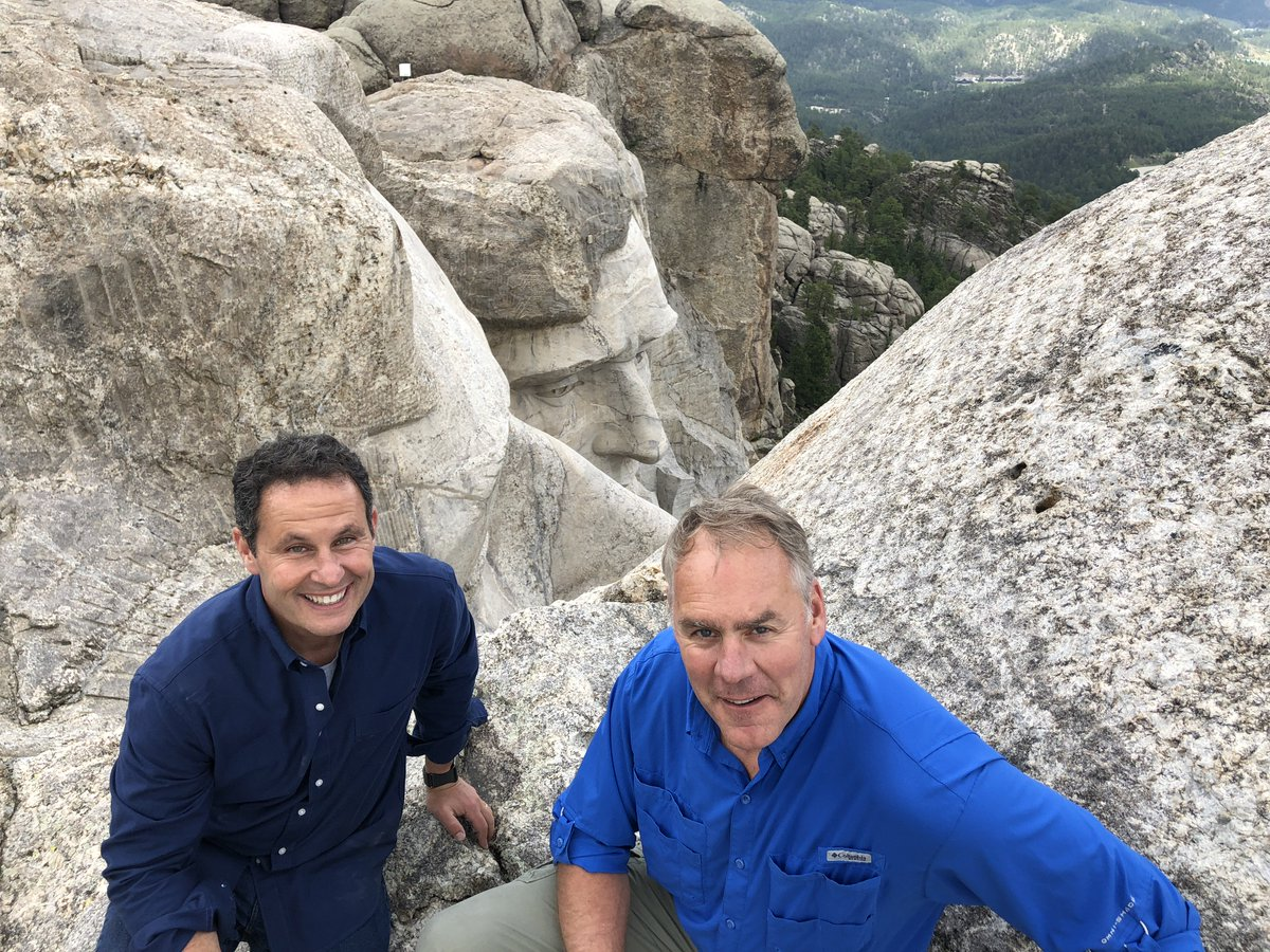 Part of my series of What Made America Great. A visit atop #MountRushmore with @RepRyanZinke! Order @foxnation today: https://t.co/ZBo1iBnAiY