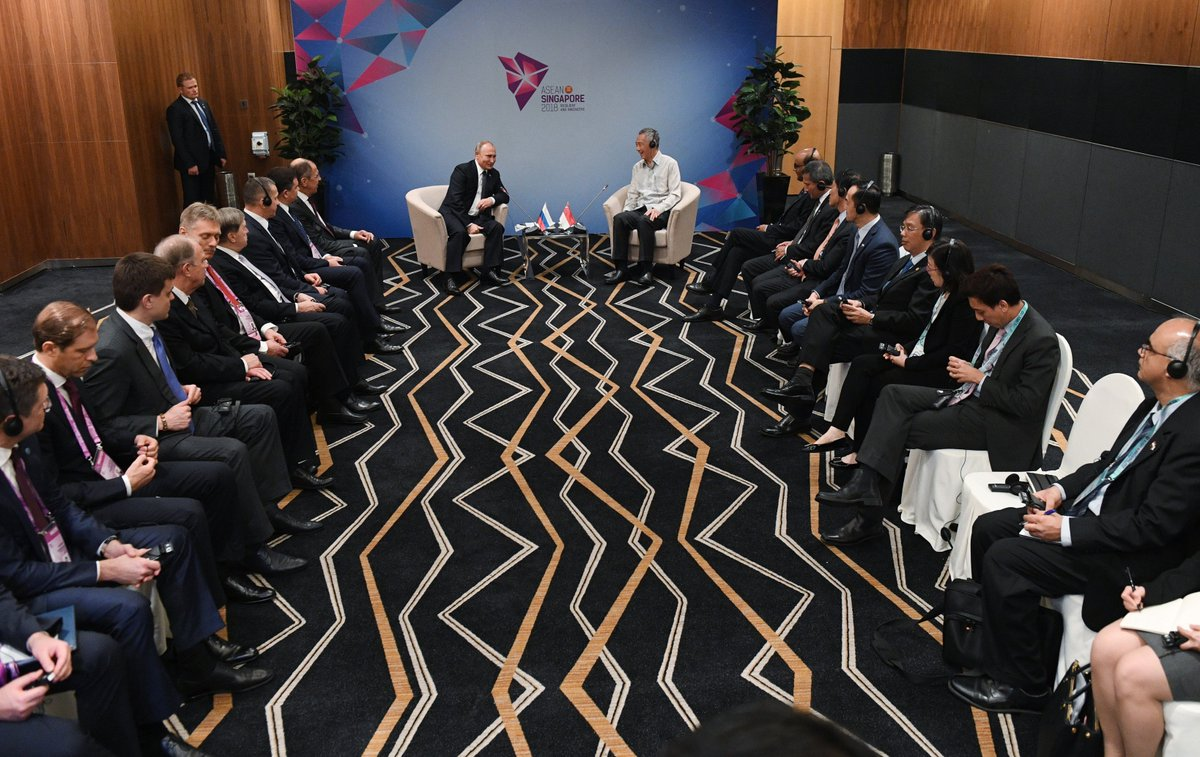 #Singapore: Meeting with Singapore Prime Minister Lee Hsien Loong bit.ly/2Pp1wya