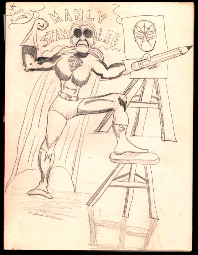 At age 7, I drew this weird portrait of Stan Lee and asked my Mom to send it to him. Thankfully she didnt because 30+ years later, I got to give it to the great one in person. Thanks for all the fun Stan #Excelsior