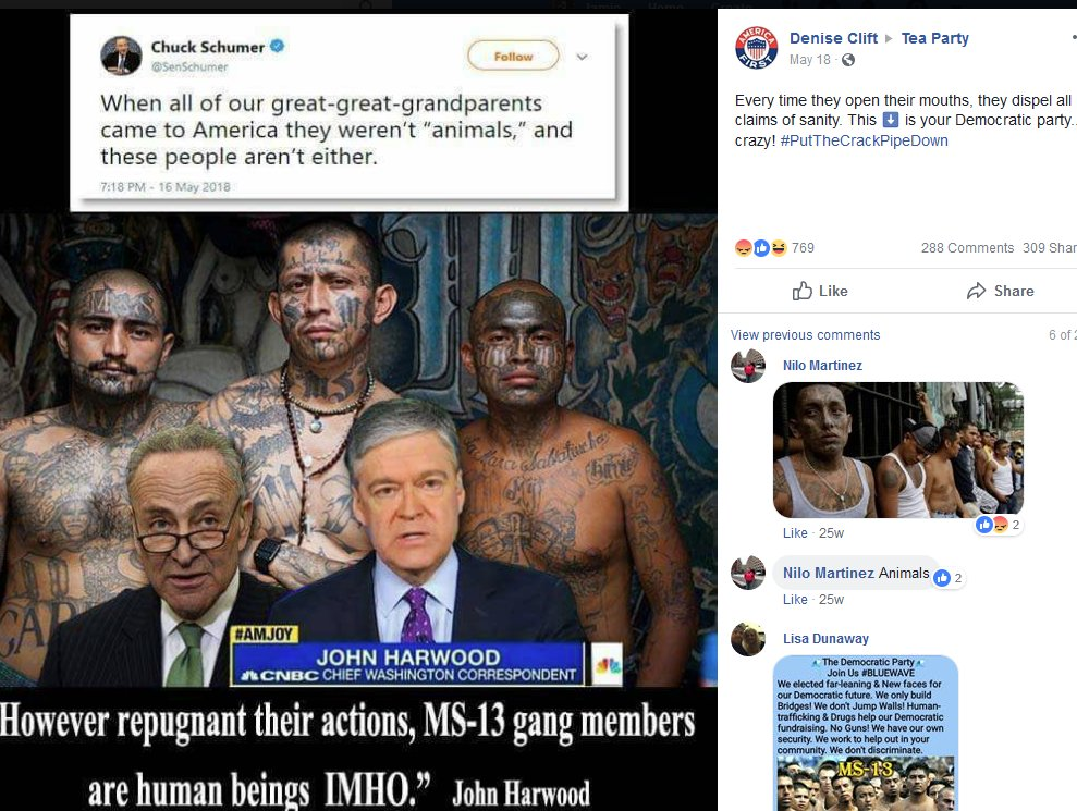 A lot of posts on MS-13.