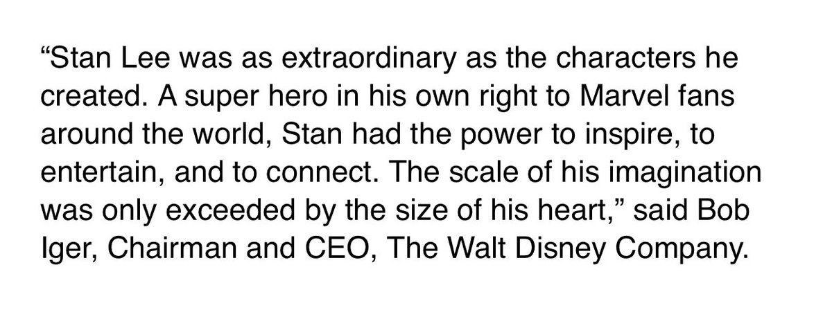 Bob Iger on Stan Lee: