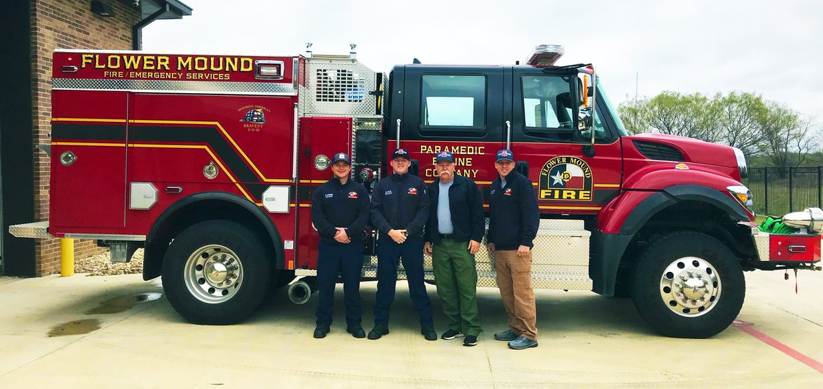 """FlowerMoundFD on Twitter: """"Four FMFD firefighters and Engine 502 are headed to California to battle the Woosley Fire."""