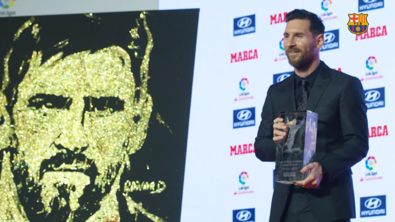 �� [BEHIND THE SCENES] �� What you didn't see when Leo #Messi received the MVP & Pichichi awards����! https://t.co/s2eYURslva