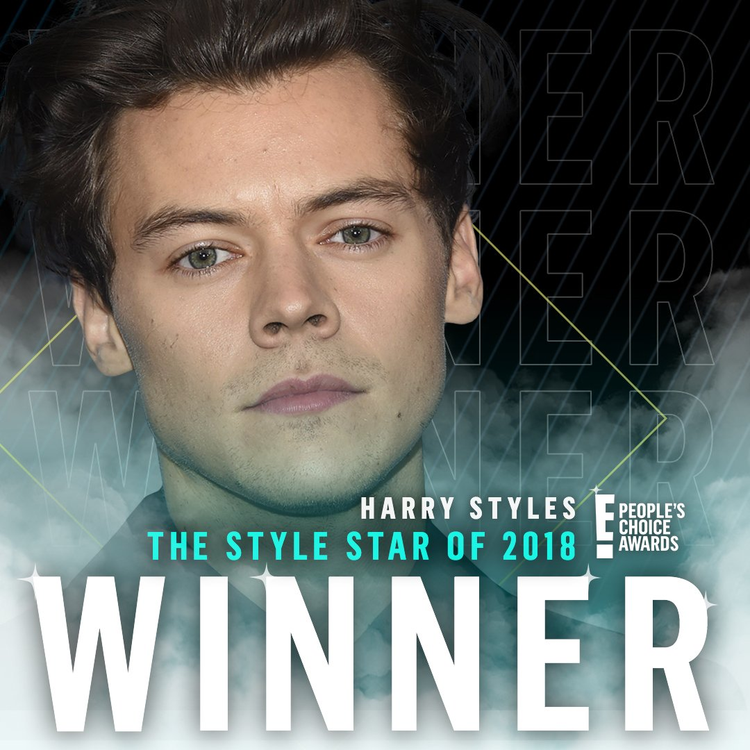 Congratulations @Harry_Styles for winning The E! People's Choice Award for #TheStyleStar of 2018! #PCAs