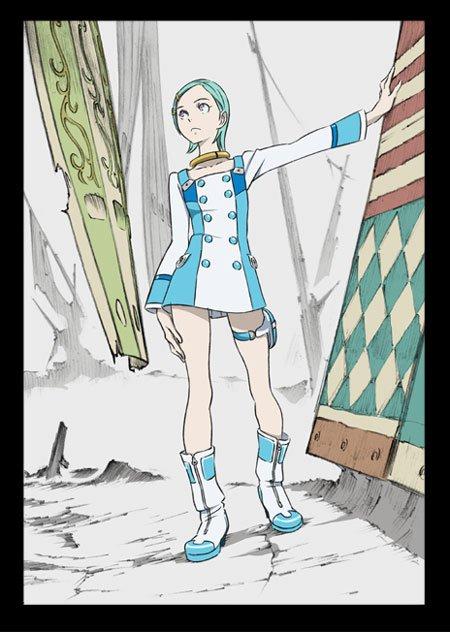 えーー、今までたくさんのエウレカを描いたわけですが、その中で自分が一番うまく描けたなあと思っているエウレカがこれなんですね。。服の布の質感もなんとなく表現できてるきがする絵ってこれが一番かもです。