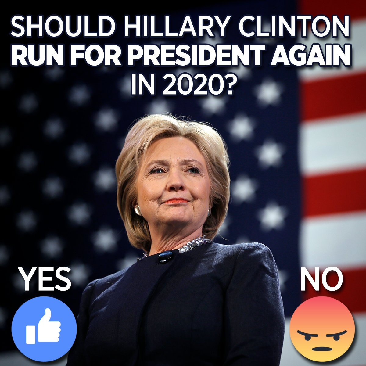 SOUND OFF: Should Hillary Clinton run for president in 2020? Who is saying she may run: cbsloc.al/2QCmuGm