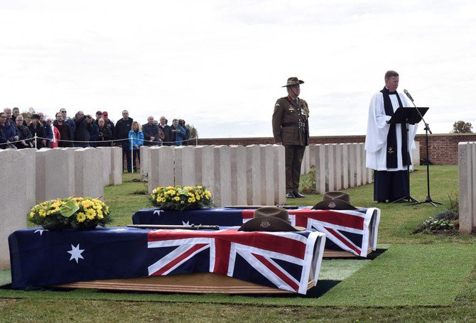 Two #Australian #WWI soldiers laid to rest in #France https://t.co/ha4nxWOpeP
