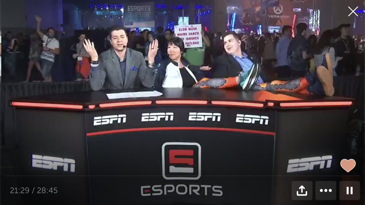 Good vibes to the @ESPN_Esports fam at the @esportsawards tonight. Our #BlizzCon #OWWC live shows alone should be enough to win all the trophies and will soon be chosen for preservation by the National Film Registry. <br>http://pic.twitter.com/7bGolT03si