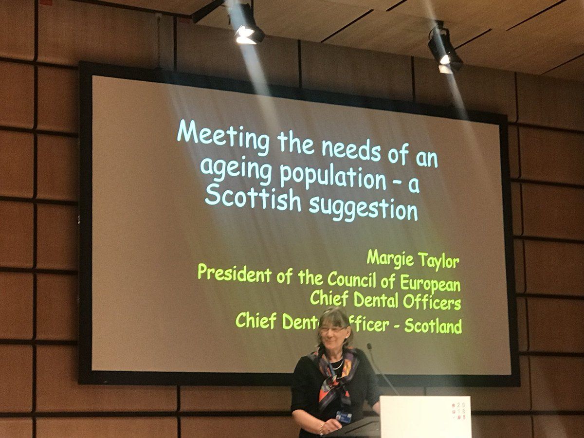 @CDO_Scotland giving us suggestions from Scotland on meeting the #oralhealthneeds of an ageing population #eu2018at https://t.co/SRA6vMcALZ