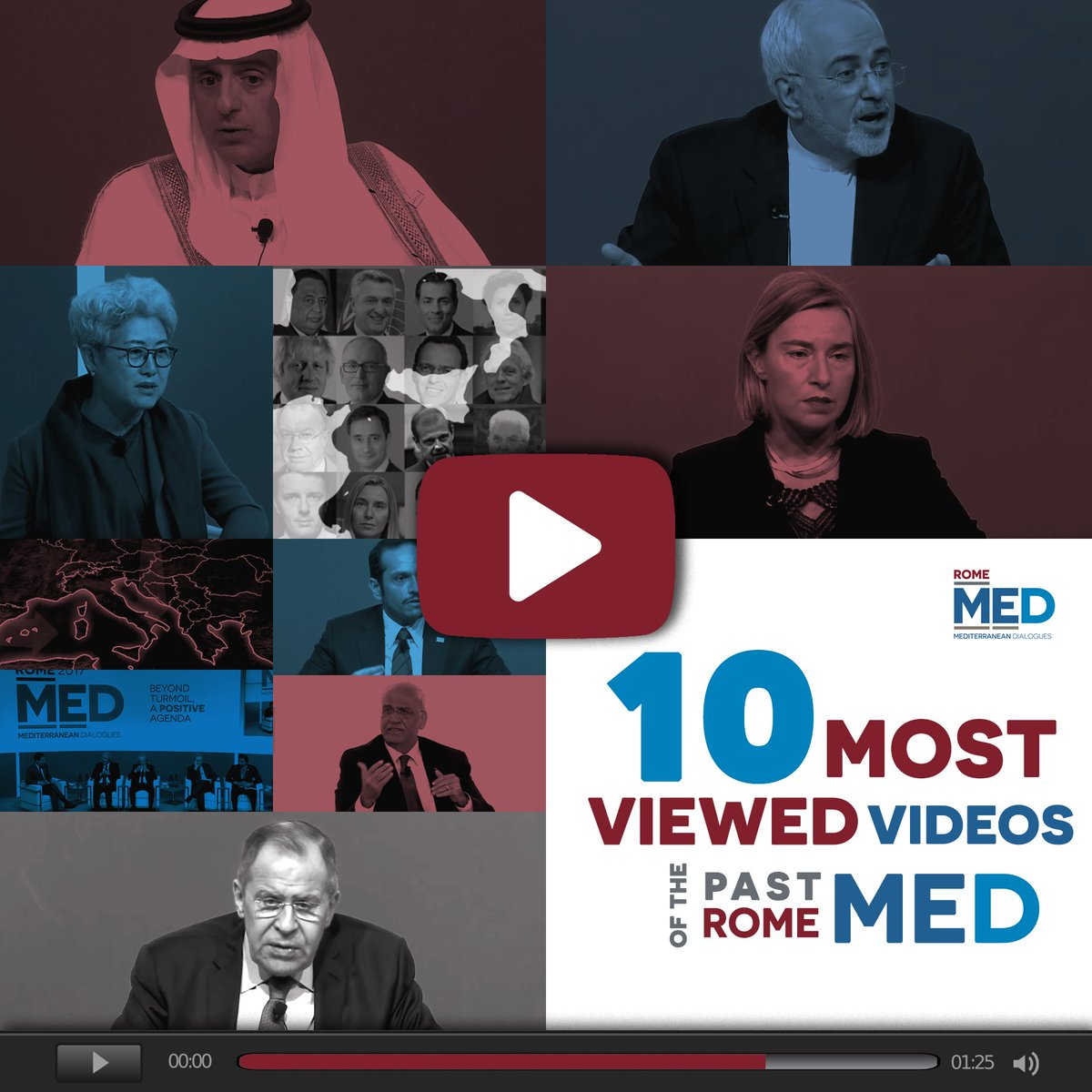 Since 2014, MED has established itself as a global hub for dialogue on the Mediterranean region. The next edition #Med2018 will take place on 22-24 November in Rome. Don't miss the 10 most viewed videos of the past editions → https://t.co/r2Xx7ImM3P By ISPI and @ItalyMFA