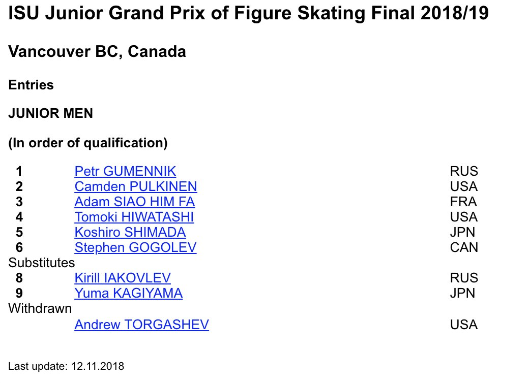 ISU Junior & Senior Grand Prix of Figure Skating Final. 6-9 Dec, Vancouver, BC /CAN  Dr0DZBXU4AEqtXe