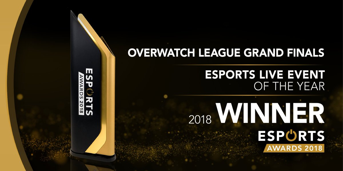 The winner of Esports Live Event of the Year @overwatchleague #ESPORTSAWARDS