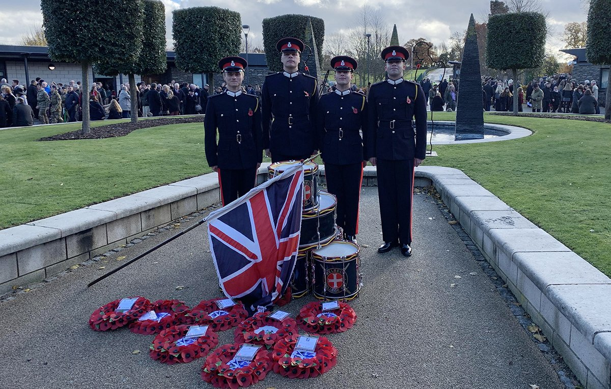 Four RMAS Ex-Welbexian cadets attended the Defence Sixth Form College on 11th November, to participate in Remembrance Sunday. #poppyappeal #Leadership #Welbeck