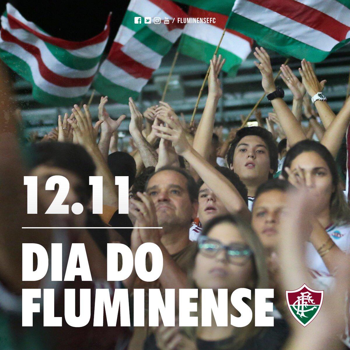 """Nelson Rodrigues, o Profeta Tricolor, disse: """"o Fluminense nasceu com a vocação da eternidade"""". Hoje, 12 de novembro, é o dia do Fluminense e dos Tricolores. Dia de celebrar o nosso clube, a nossa torcida e a nossa história. """"Tudo pode passar. Só o Tricolor não passará jamais""""."""
