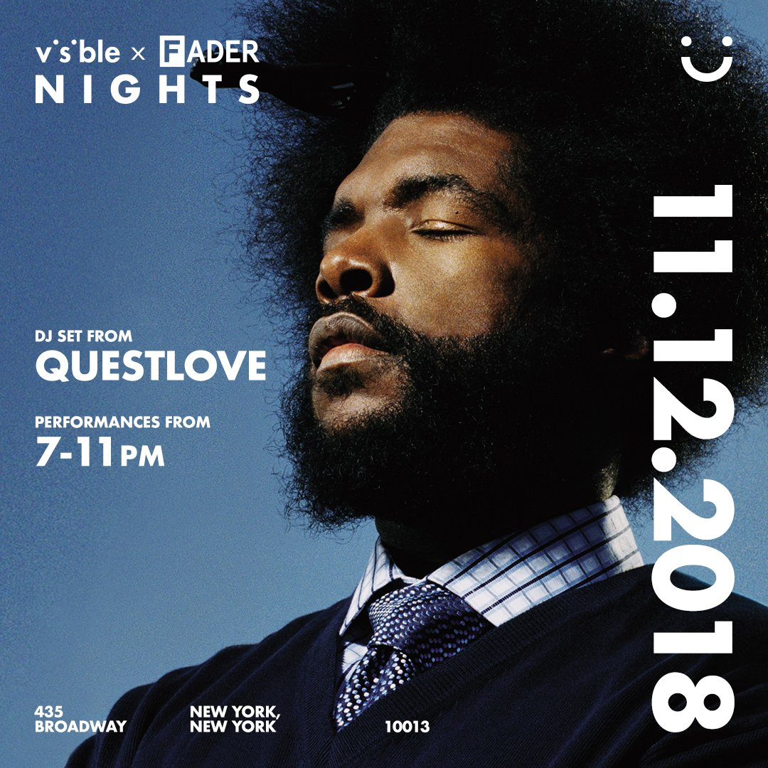 New York: Tonight @questlove is spinning at #inVisibleNY, an interactive and immersive experience by @visible for exploring and solidifying connections. Learn more here: https://t.co/oVjk1bSoJT