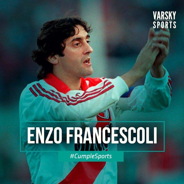 #CumpleSports Enzo Francescoli. Emblema de River y de Uruguay. Potrero y alfombra roja. Miembro del Salón de la Fama del Planeta Fútbol.