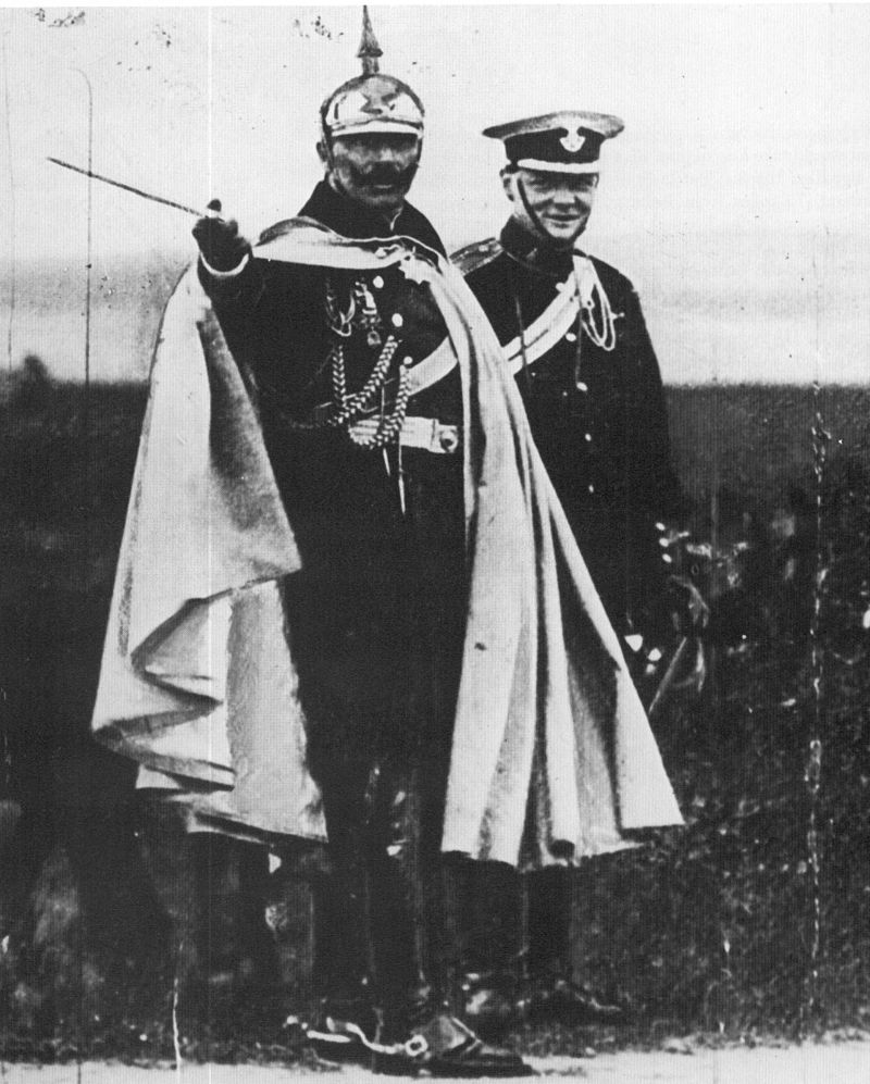 Wilhelm II and Winston Churchill, 1906 #WWI100 #WWI  #20thCentury