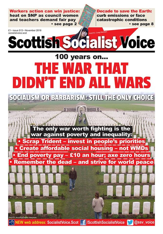 in @ssv_voice 513 - full colour coverage of the #GlasgowWomensStrike, Universal Credit changes in the Tory Budget, initial strategies for ecosocialism, Trump against historic peace deals, anti-fascist rock and glam, the fascist victory in Brazil & Slavoj Žižeks latest reviewed.