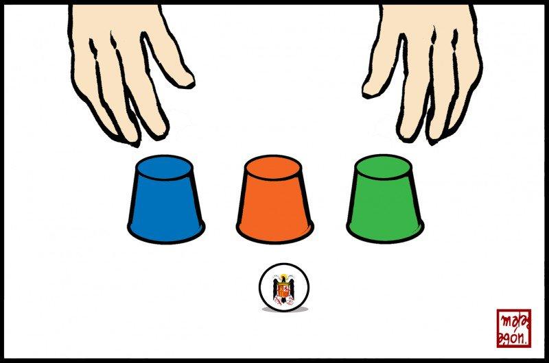 ¿Y dónde está la bolita?, se pregunta @malagonhumor en @ctxt_es. Y no es fácil responder...