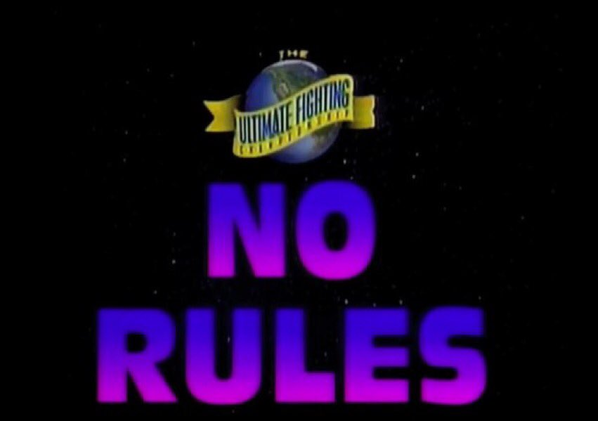 UFC 1 had No Rules, No Time Limits, No Weight Classes, & No Rounds. It was a showcase of raw unarmed combat.