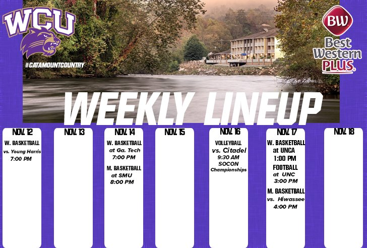 Weekly Line up - ending Nov. 18