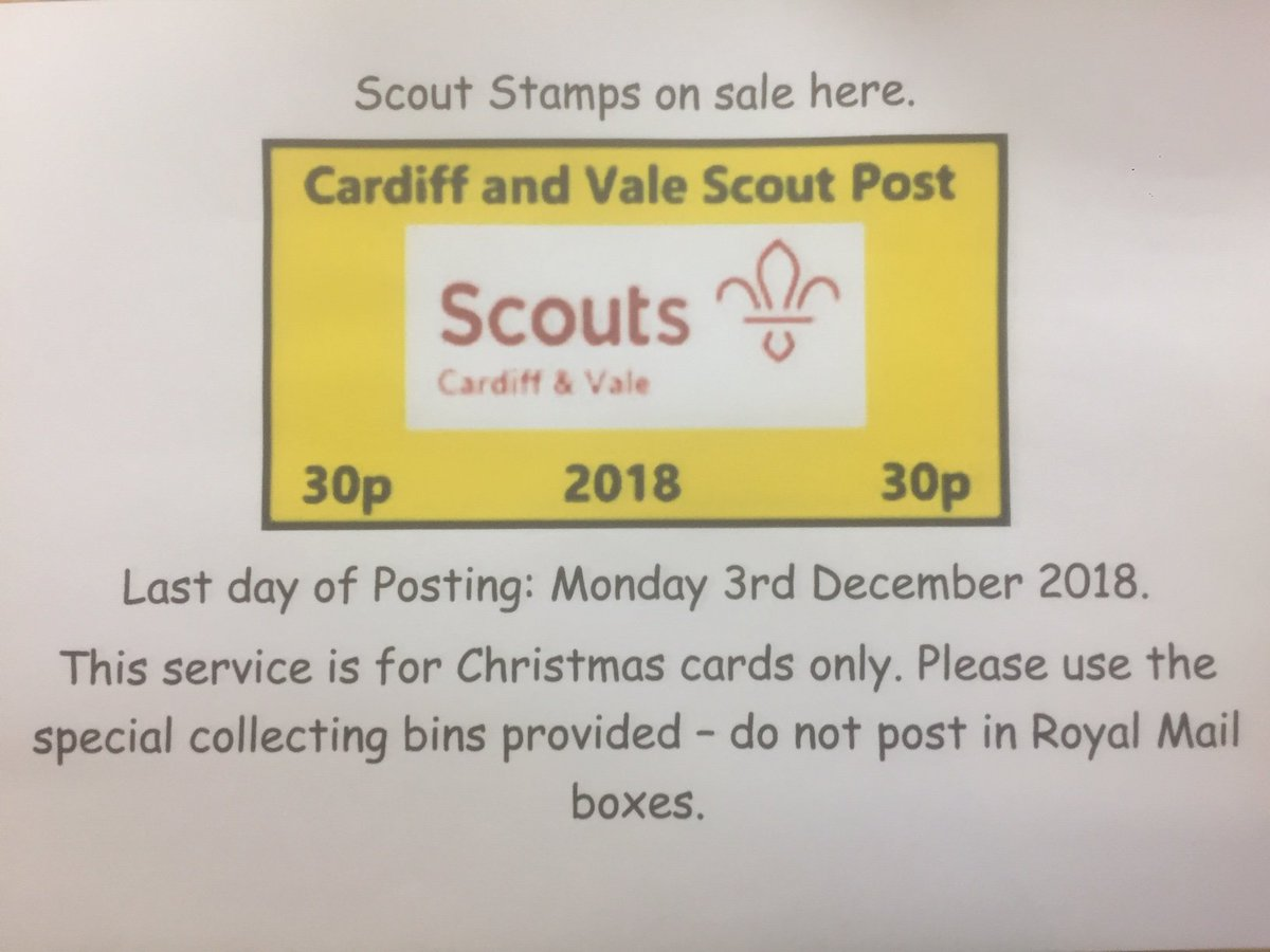 test Twitter Media - Stamps for the #ScoutPost are now for sale at the shop, costing just 30p each. Last day for posting is December 3. More information on which areas are covered in Cardiff and the Vale, and where to post, can be found here:    https://t.co/0qZAXTVPzB  #Scouts https://t.co/SLVLLmAWi7