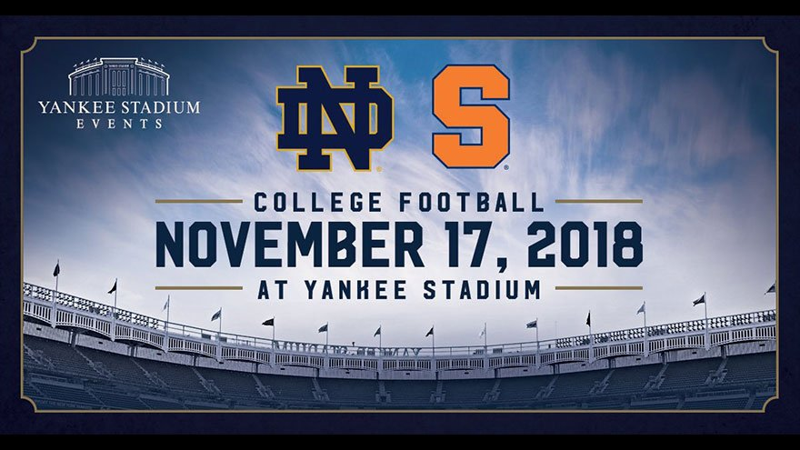 Orange nation eyes clash Notre Dame at Yankee Stadium on Saturday (preview & info)