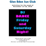 Image for the Tweet beginning: DJ Dance Fri & Sat!  #GlenEdenSunClub