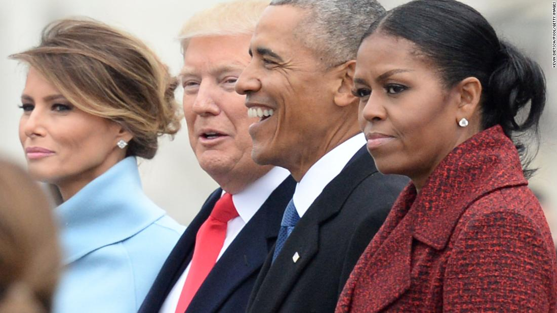 "Former first lady Michelle Obama stopped ""even trying"" to smile at President Trump's inauguration https://t.co/ltCsTUkIZS"
