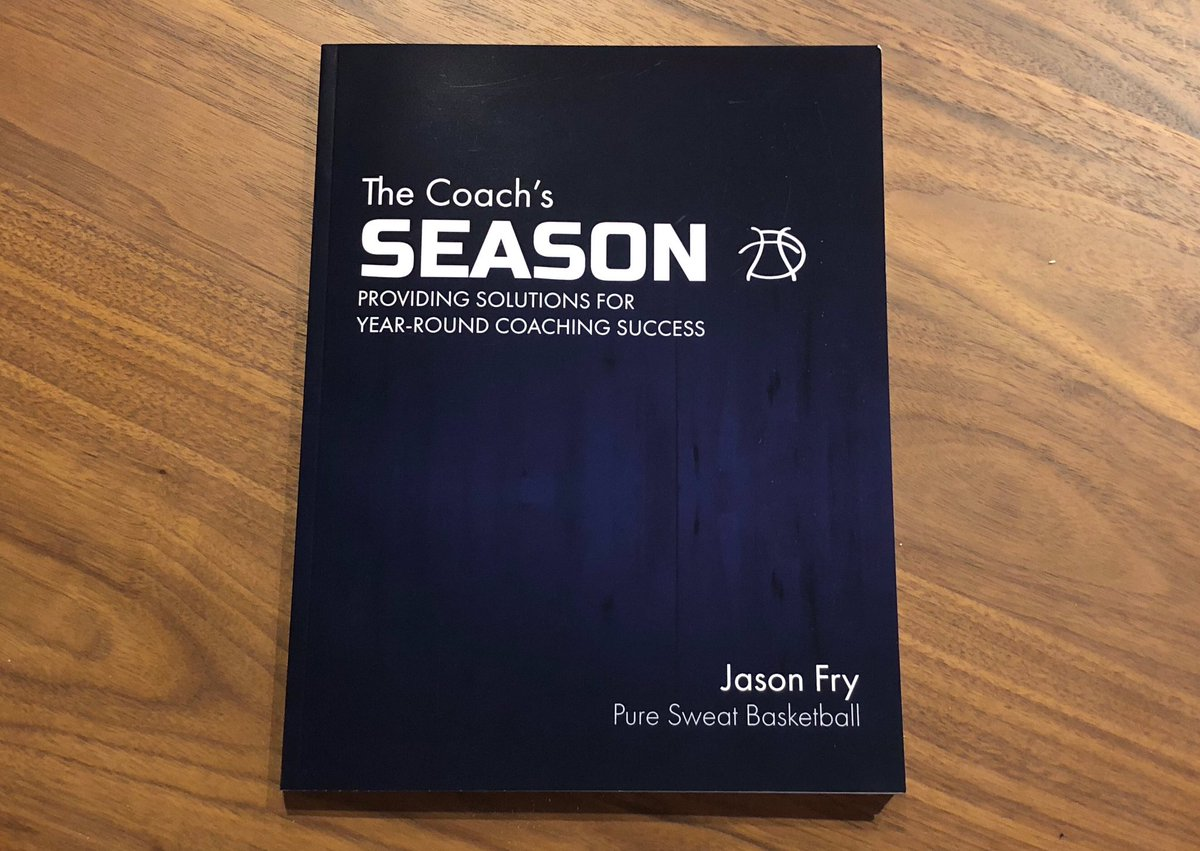 They have arrived!! 'The Coach's Season' by @CoachJFry starts shipping today! Those of you who pre-ordered will be the first to ship. Secure your copy now as the first run is already almost sold out! store.puresweatbasketball.com/products/the-c…