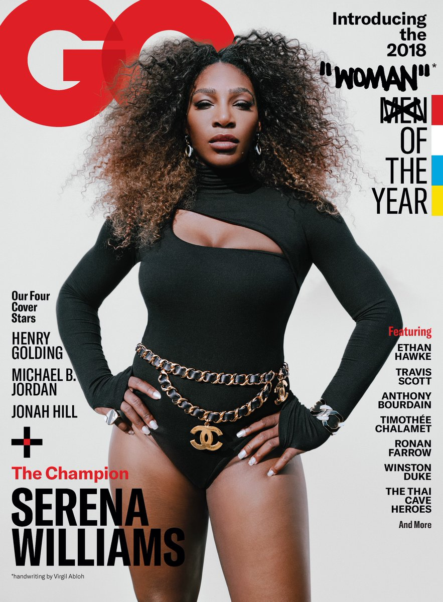Serena Williams, the Woman of the Year for @GQMagazine