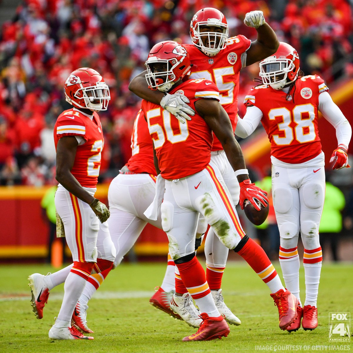 🍔 Thanks, fellas!  The @Chiefs defense had FIVE sacks Sunday against the @AZCardinals so Big Macs are buy one/get one at KC @McDonalds Monday.   Enjoy, Chiefs Kingdom!  #Chiefs #ChiefsKingdomKingdom