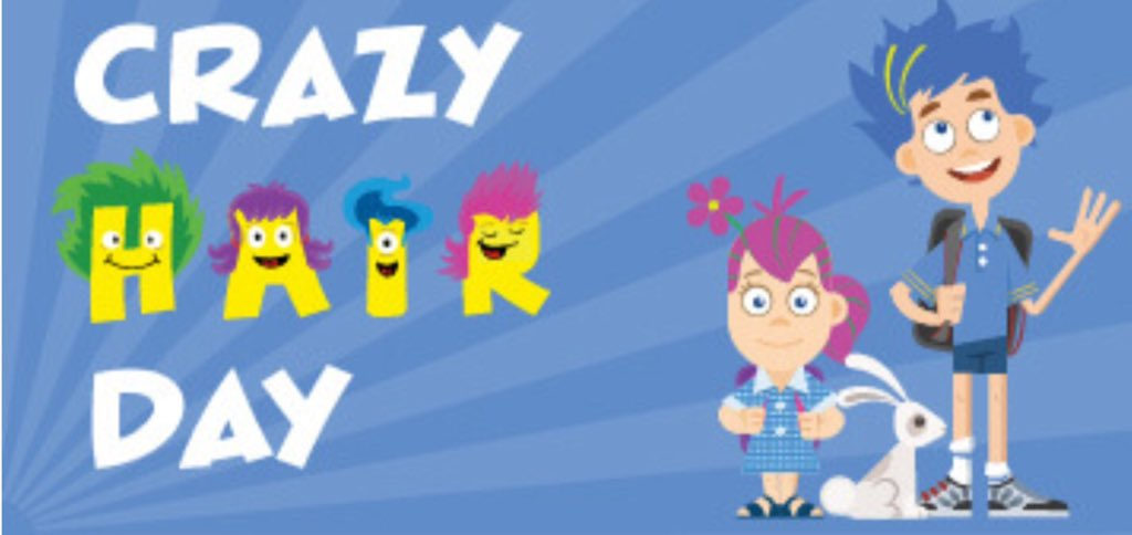 St Mals Ps On Twitter Reminder Crazy Hair Day And Non Uniform This Friday Bring In 1 To Support Children In Need 2018 Bbccin Eco Schoolsni Globalperspective Helpingothers Stmalssuperstars Https T Co 064fiqhuzd