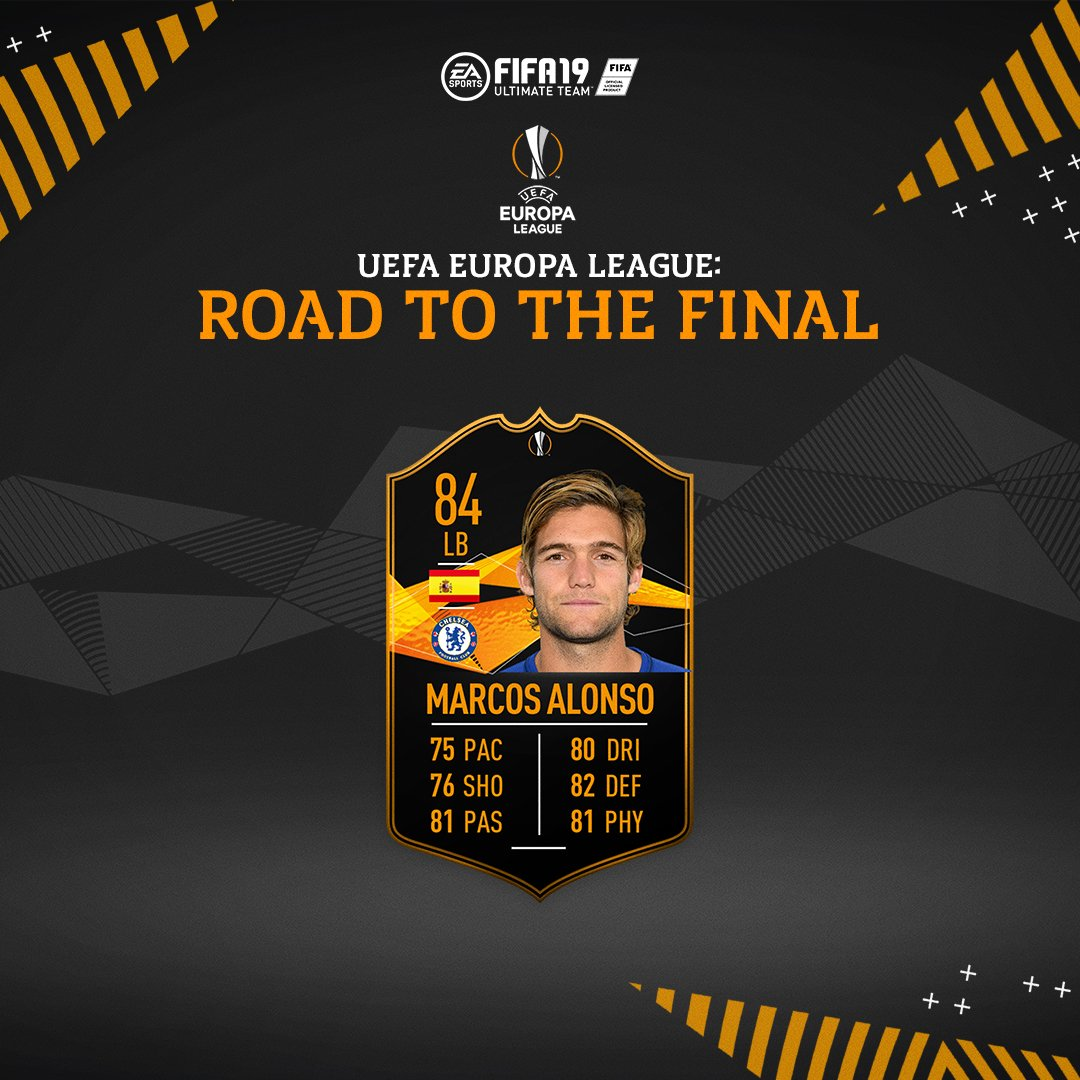 Europa League Road To The Final Marcos Alonso SBC is now available #FUT #FIFA19 https://t.co/ZHCVkhtpGt