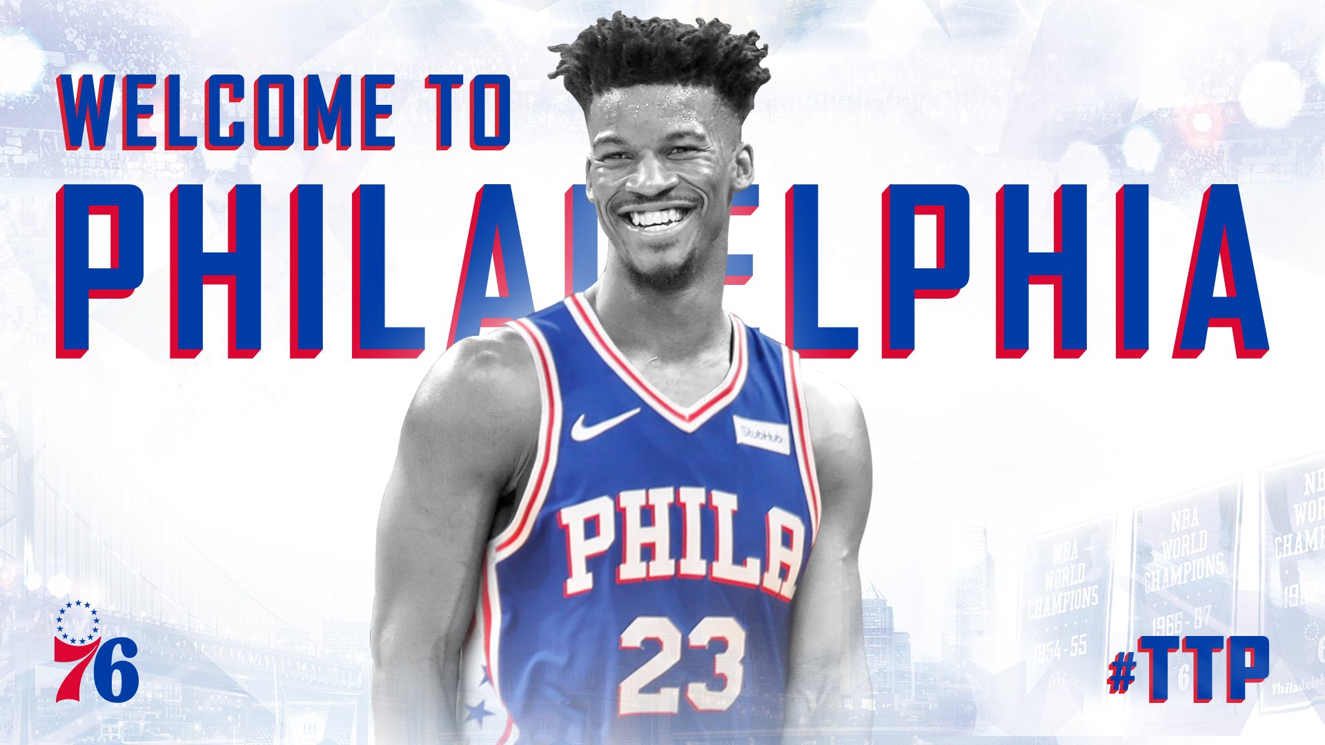 Team acquires four-time All-Star Jimmy Butler from Minnesota.  ��https://t.co/DsD1Yei0QT | #HereTheyCome https://t.co/l2afxZRosl