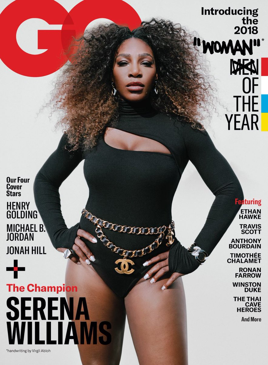 Serena Williams is @GQMagazine's woman of the year -- story out Thursday.   https://t.co/1DzYIJi64Y https://t.co/VFxMPEM4Jt