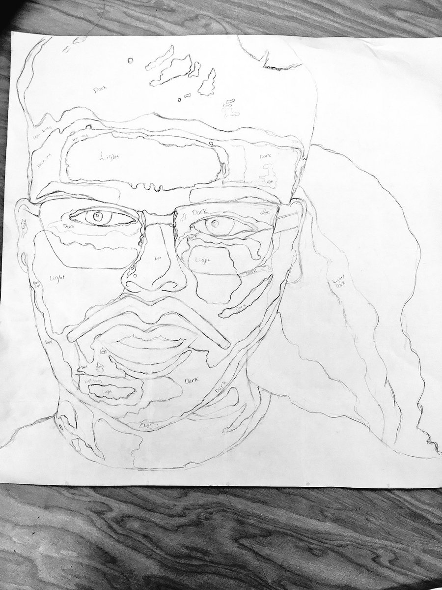 Some student work in progress that I'm really exited about.  #arteducation #creativity #GMSW #MonochromaticPortrait #ClayMugpic.twitter.com/QquzZrnWZX