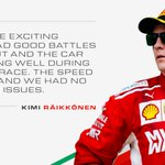 Hear from #Kimi7 after a great battle at the #BrazilGP #ForzaFerrari