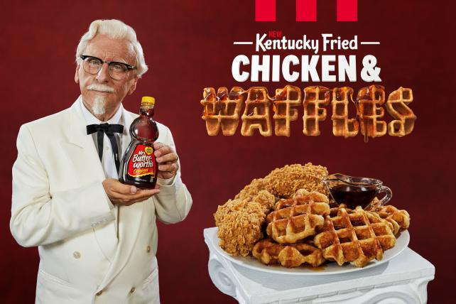 See the spot: KFC's Colonel gets a dance partner to hawk chicken and waffles https://t.co/jgKFqpLTnT