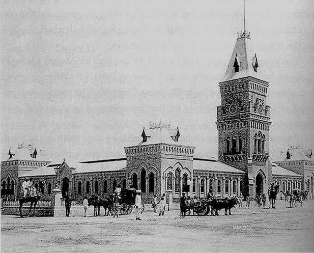 Karachi's famous Empress Market was constructed by the British in 1889. It began to be encroached upon from 1970s. Many 'clean up operations' were initiated but none worked. This year one of the largest operations is being implemented. 1. 1890. 2. 1966. 3. 1974 4. 2017