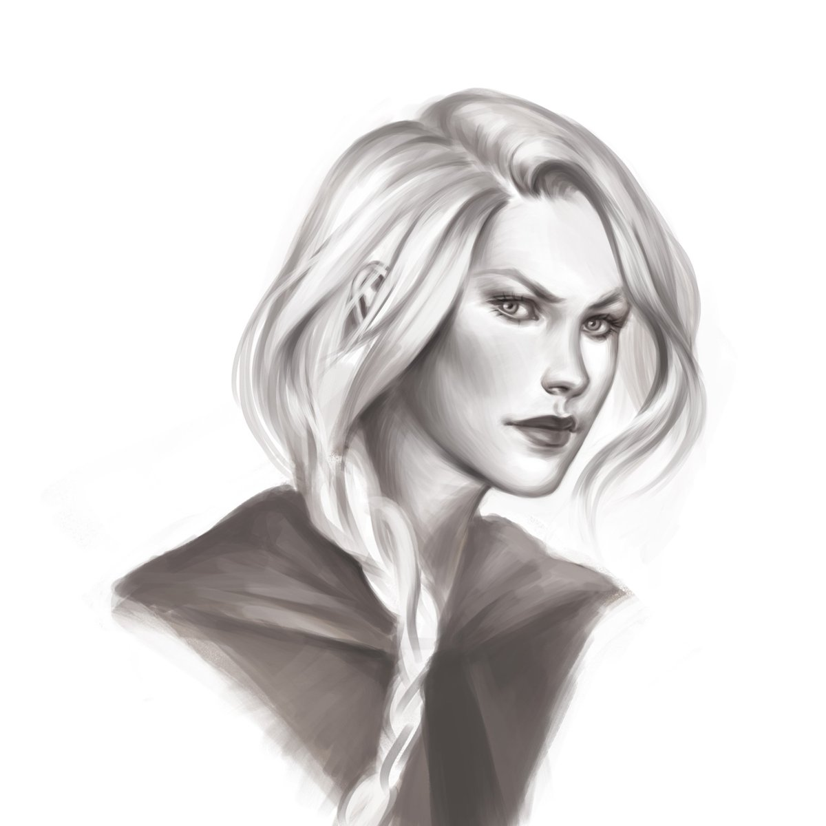 Painting Manon again  will add some color to it tomorrow   #manonblackbeak #throneofglass #sarahjmaas #digitalpainting #wip #drawing #myart<br>http://pic.twitter.com/x2Nb8FsTL5