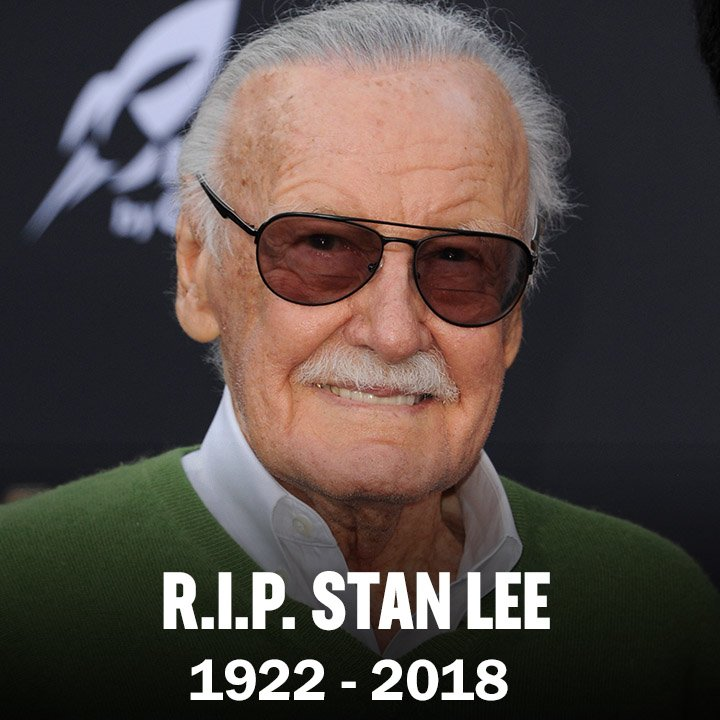 It breaks our hearts to inform you that the absolutely legendary Marvel creator Stan Lee has passed away. RIP and Excelsior to a true hero!